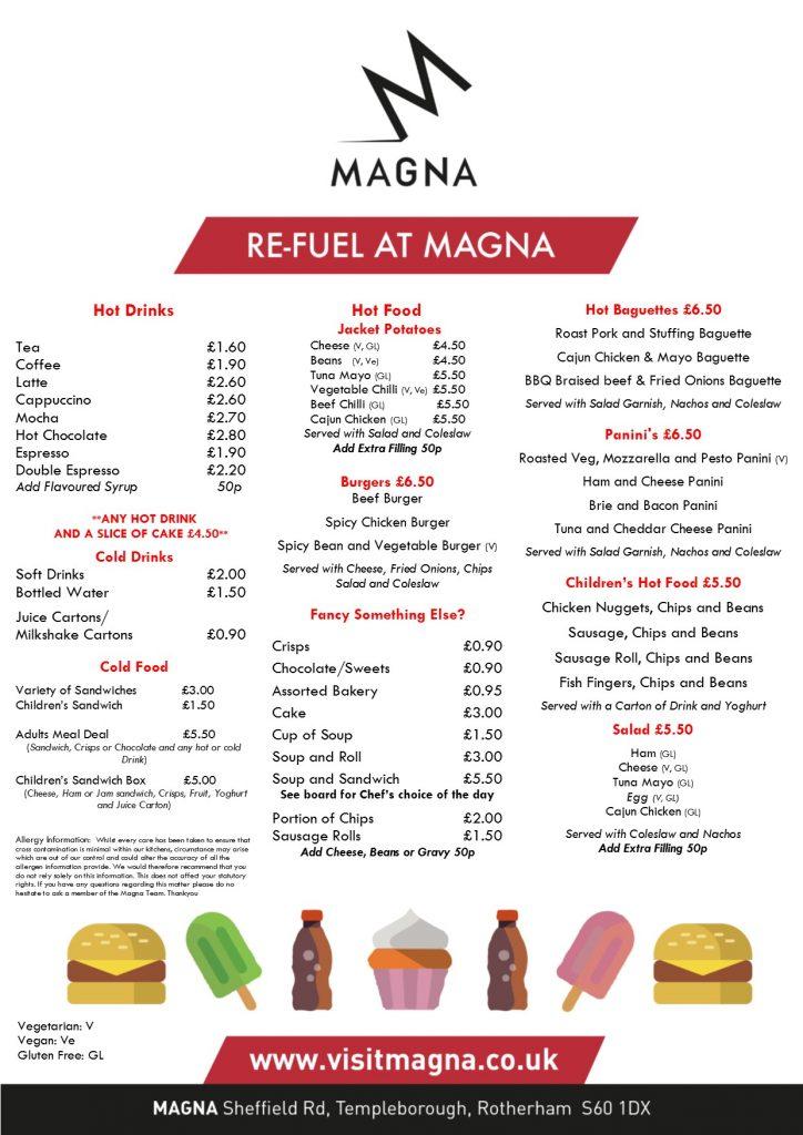 Magna Cafe Menu